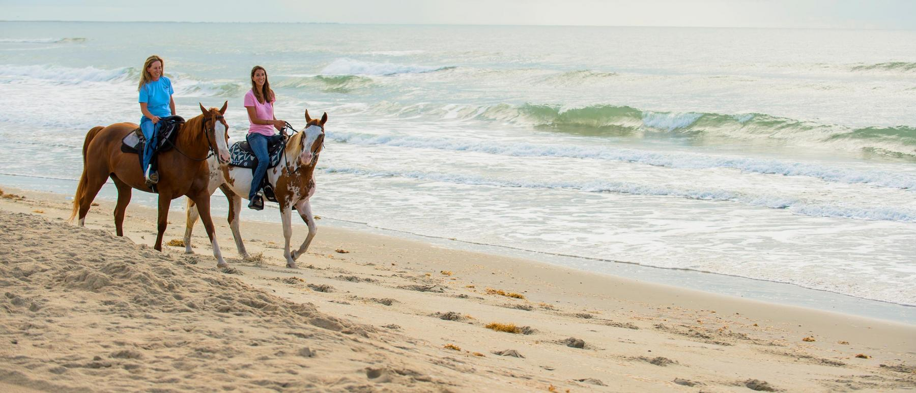 Horses on BeachHorseback riding on the beach